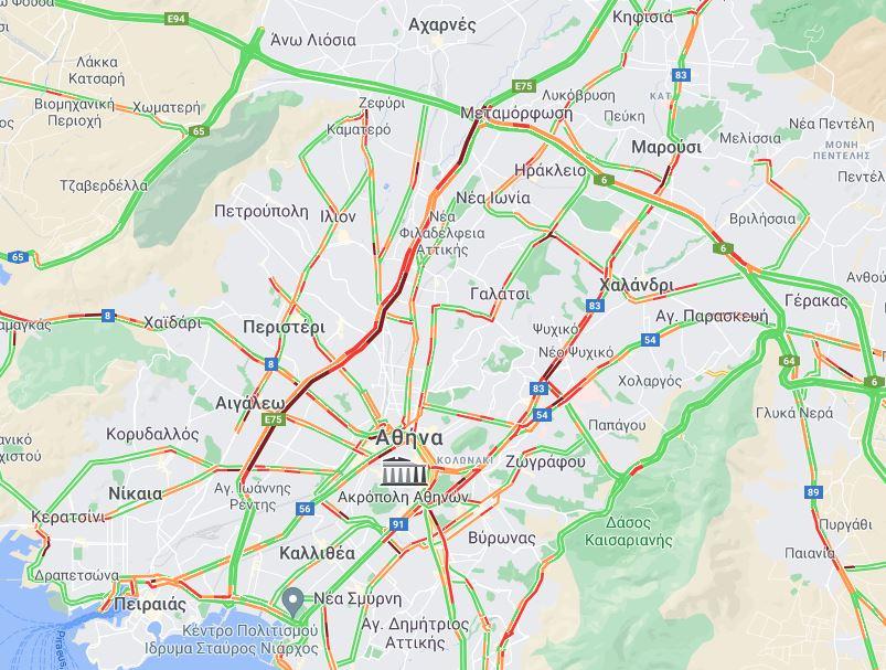Χάρτης κίνηση Google