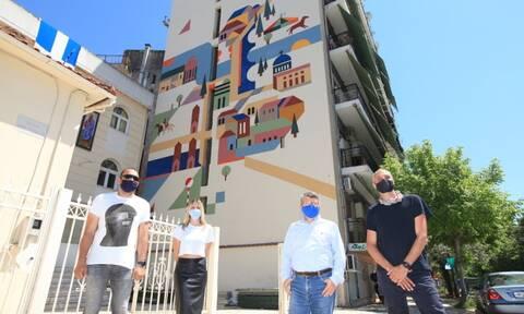 Λάρισα: Νέα δημόσια τοιχογραφία αφιερωμένη στον Αγήνορα Αστεριάδη και στο έργο του