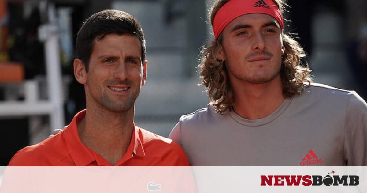 facebookDjokovic Tsitsipas embrace