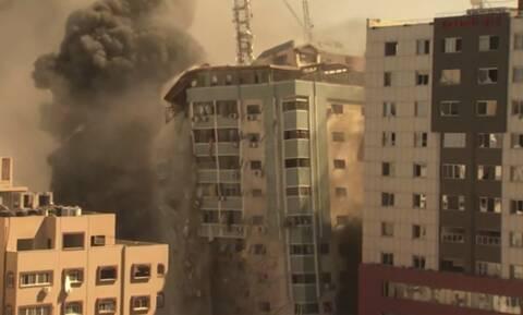 Γάζα: Κατάρρευση κτιρίου με γραφεία των AP και Al Jazeera μετά από βομβαρδισμό