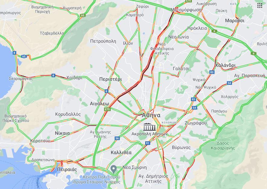 Χάρτης κίνηση