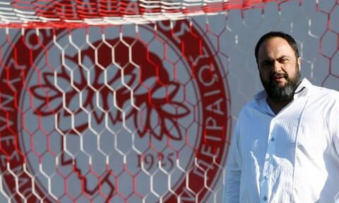 Ολυμπιακός: Στο Ρέντη ο Μαρινάκης - Το μήνυμά του στους παίκτες πριν τον τελικό