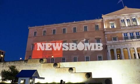 Φωταγώγηση της Βουλής σε ένδειξη τιμής και μνήμης της Γενοκτονίας των Ελλήνων του Πόντου