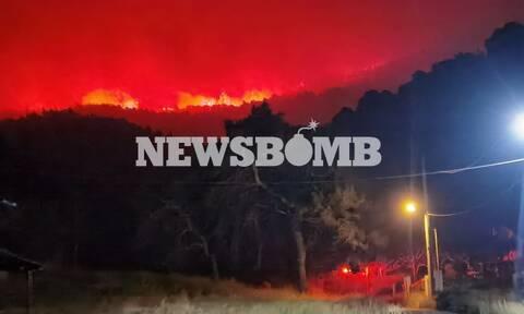 Φωτιά στο Σχίνο - Κάτοικοι περιοχής: «Έχουν καεί πολλά σπίτια στη Μαυρολίμνη»