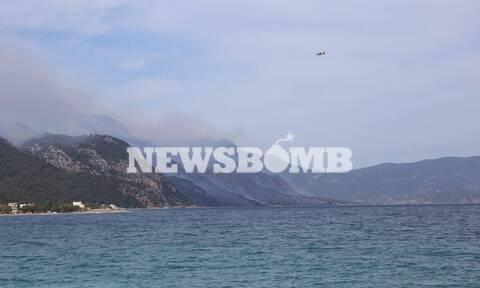 Φωτιά Κορινθία - Ρεπορτάζ Newsbomb.gr: Κάηκαν τουλάχιστον πέντε σπίτια - Φόβος για τους ανέμους
