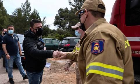 Φωτιά στην Κορινθία: Δείτε LIVE την έκτακτη ενημέρωση από τον Νίκο Χαρδαλιά