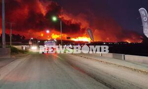 Φωτιά ΤΩΡΑ - Ρεπορτάζ Newsbomb.gr: «Φύγετε, θα καείτε ζωντανοί» - Κλάματα και λιποθυμίες