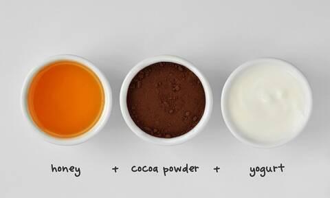 Καλοκαιρινό σνακ με γιαούρτι, μέλι και κακάο (vid)