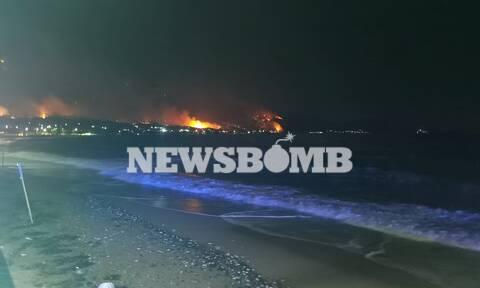 Φωτιά ΤΩΡΑ: Ολονύκτια μάχη στα Γεράνεια Όρη – Πολλά τα μέτωπα, μαίνεται η πύρινη λαίλαπα