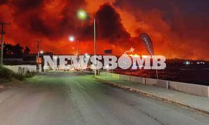 Φωτιά ΤΩΡΑ στα Γεράνεια: Δείτε στο χάρτη το μέτωπο της πυρκαγιάς