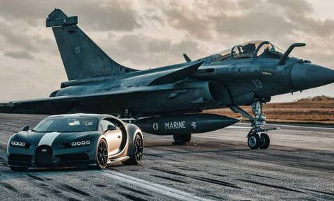 Ποιος κερδίζει στην κόντρα μεταξύ μίας Bugatti και ενός Rafale;