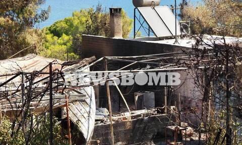 Лесной пожар в Греции: сотни эвакуированных, сгорели жилые дома
