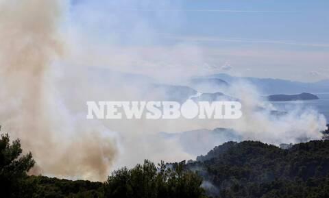 Φωτιά ΤΩΡΑ - Ρεπορτάζ Newsbomb.gr: Η τελευταία ενημέρωση για το πύρινο μέτωπο στο Αλεποχώρι