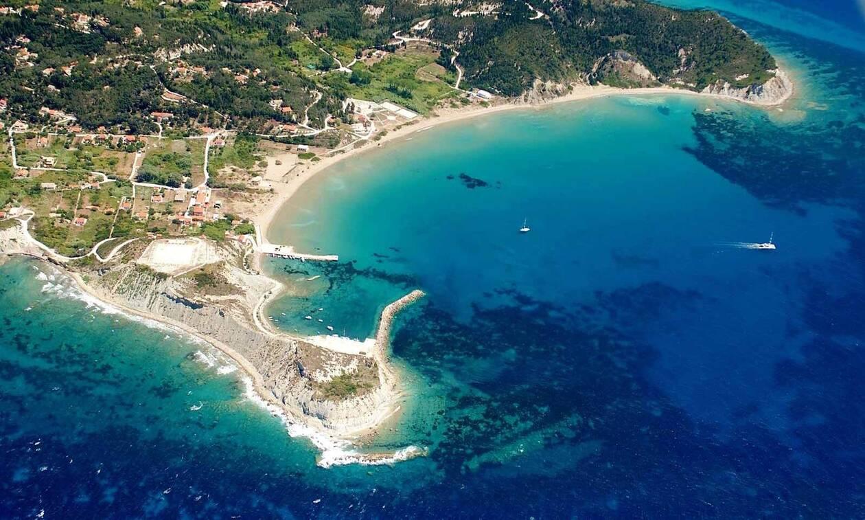 erikousa island port drone