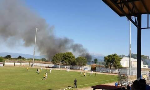 Χάος στη Γ' Εθνική - 29 προσαγωγές μετά από πυρκαγιά λόγω καπνογόνου
