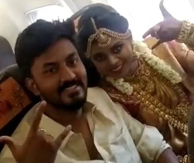 Ινδοί γάμος αεροπλάνο