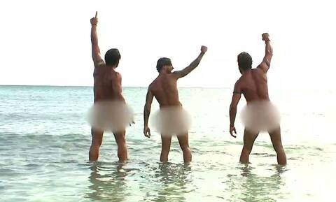 Survivor: Το βίντεο που θα γίνει Viral - Γυμνοί στην παραλία οι παίκτες της μπλε ομάδας!