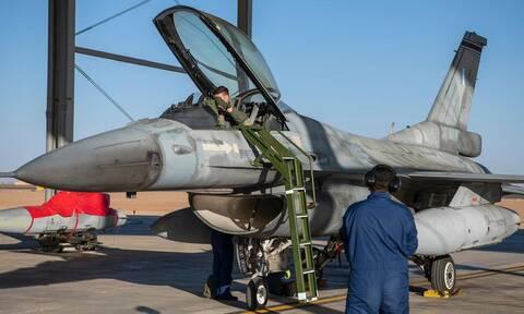 Έλληνας πιλότος σε F-16 Block 52+ στη Βάση King Fasal της Σαουδικής Αραβίας, στο πλαίσιο της άσκησης «Falcon Eye II».