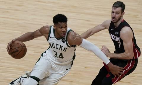 NBA: Μιλγουόκι Μπακς και Γιάννης Αντετοκούνμπο «καθάρισαν» τους Χιτ και έκαναν το 3-0