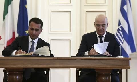 Πέρασε από την ιταλική γερουσία η συμφωνία Ελλάδας- Ιταλίας για τις θαλάσσιες ζώνες