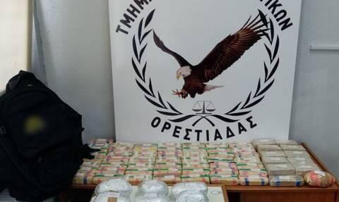Έβρος: Μπλόκο σε 21,5 κιλά ηρωίνης με κατεύθυνση την Ελλάδα