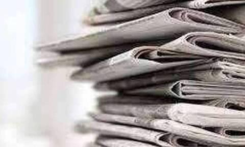 Πρωτοσέλιδα εφημερίδων σήμερα, Δευτέρα 31/05