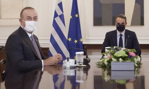 Συνάντηση Μητσοτάκη - Τσαβούσογλου: «Σε καλό κλίμα» λένε κυβερνητικές πηγές