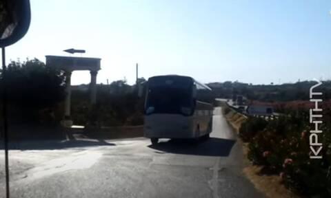 Κρήτη: Η διαδρομή του τρόμου στη Χερσόνησο - Τουριστικά πούλμαν αντιμετωπίζουν κίνδυνο καθημερινά