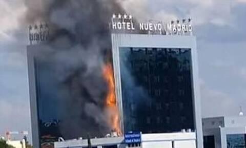 Συναγερμός στη Μαδρίτη - Φωτιά σε γνωστό ξενοδοχείο (vids)