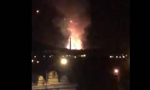 Βίντεο: Φωτιά και εκρήξεις σε εργοστάσιο πυρομαχικών στη Σερβία