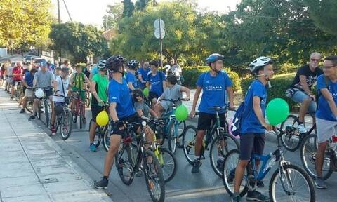 «Ποδηλατοβόλτα» στη δυτική Θεσσαλονίκη για καλύτερο περιβάλλον