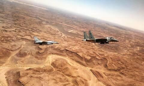 «FALCON EYE - 2»: Εντυπωσιακές εικόνες από την αεροπορική άσκηση Ελλάδας - Σαουδικής Αραβίας