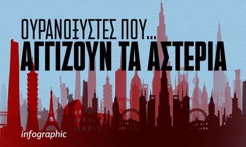 Κτίρια που κρέμονται απο τον ουρανό - Δείτε τους ψηλότερους ουρανοξύστες στο γράφημα του Newsbomb.gr