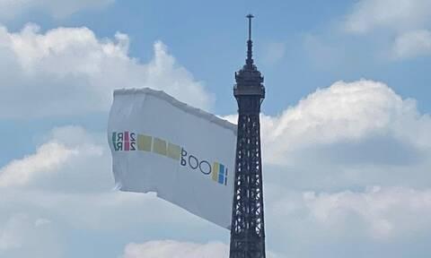 Ολυμπιακοί Αγώνες: Κυματίζει στον Πύργο του Άιφελ η σημαία για το Παρίσι 2024