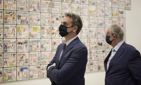 Στα εγκαίνια της έκθεσης σύγχρονης τέχνης «Portals» ο Κυριάκος Μητσοτάκης
