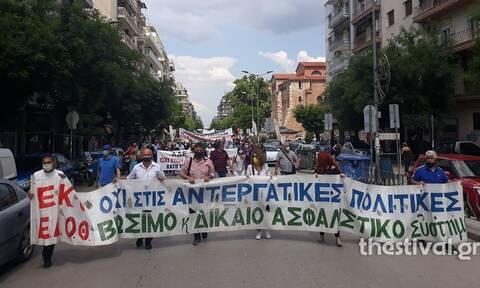 Θεσσαλονίκη: Ξεκίνησε η πορεία του ΕΚΘ και της ΕΔΟΘ από το Εργατοϋπαλληλικό