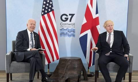 G7- Μπόρις Τζόνσον: ΗΠΑ και Βρετανία σε «πλήρη αρμονία» για τη Βόρεια Ιρλανδία