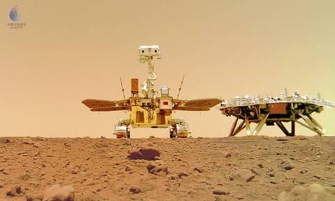 «Selfie» από το κινεζικό ρομπότ Zhurong στον Άρη