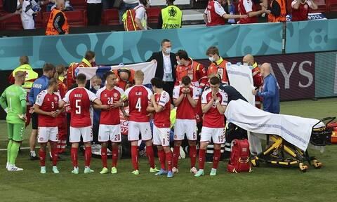 Euro 2020: Σοκαριστικές εικόνες – Ανθρώπινη «ασπίδα» στον Έρικσεν, κλάματα στις εξέδρες