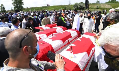 Καναδάς: Ύστατος φόρος τιμής στη μουσουλμανική οικογένεια που δολοφονήθηκε