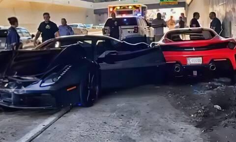 Tρεις πανάκριβες Ferrari τράκαραν… μεταξύ τους