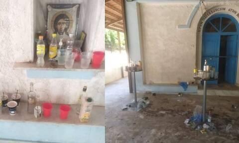 Σέρρες: Ούτε ιερό ούτε όσιο - Άγνωστοι μετέτρεψαν το παρεκκλήσι σε… μπαρ (pics)