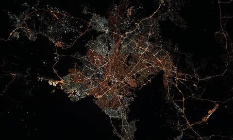 Η Αθήνα τη νύχτα από τον Διεθνή Διαστημικό Σταθμό