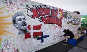 Euro 2020: Παίρνει εξιτήριο ο Κρίστιαν Έρικσεν – Το όμορφο γκράφιτι κι οι ευχές του κόσμου (photos)