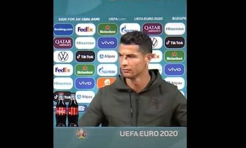 EURO 2020: Έξαλλος ο Κριστιάνο Ρονάλντο με την... Coca Cola – Τι συνέβη