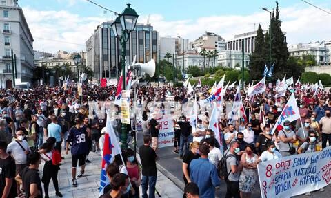 ΤΩΡΑ: Αποκλεισμένο το κέντρο της Αθήνας - Συγκεντρώσεις διαμαρτυρίας για το εργασιακό