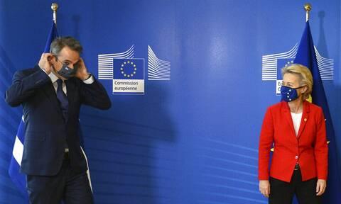 Συνάντηση Μητσοτάκη - Φον ντερ Λάιεν: Έγκριση του «Ελλάδα 2.0» και θετικά μηνύματα στην οικονομία