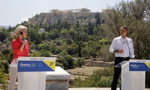 Μητσοτάκης: Πρώτη μέρα μιας νέας εποχής – Φον ντερ Λάιεν: Πιο ανθεκτική η Ελλάδα με τις επενδύσεις