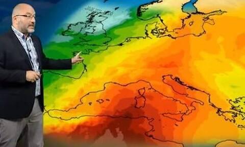 Καιρός - Αρναούτογλου: Έρχεται κύμα ζέστης - Πού θα δείξει 39άρια το θερμόμετρο (vid)