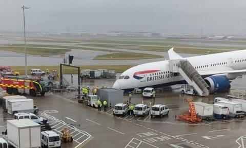 Βρετανία: Πανικός στο Heathrow – Κατέρρευσε  μπροστινό μέρος αεροπλάνου της British Airways